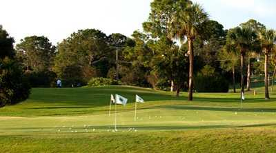A view of the practice area at Gainesville Country Club