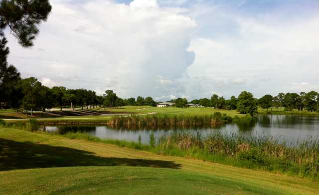 A view of fairway #18 at Hunter's Creek Golf Club