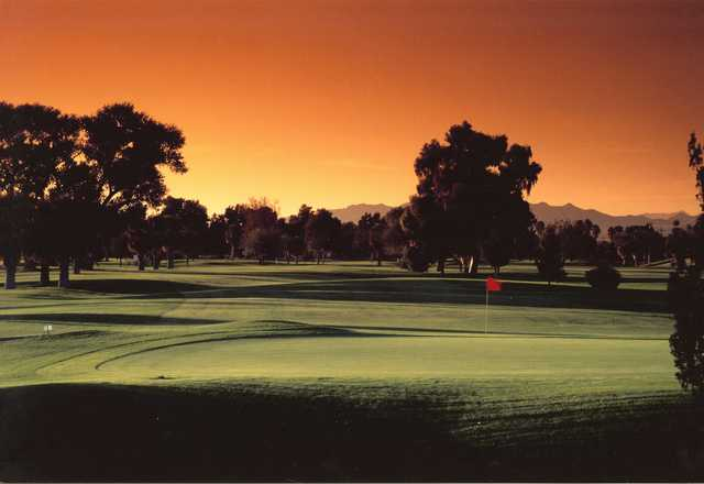 A sunset view from Rivers Edge Golf Course.