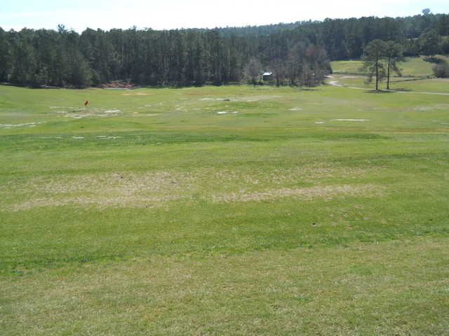 A view of the driving range at Lake Forest Golf Club