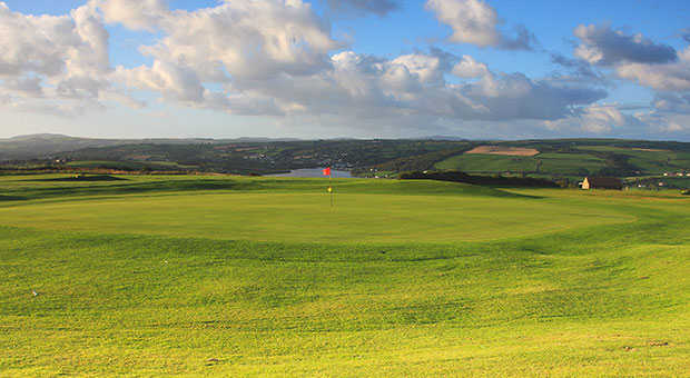 A view of the 10th green at Cardigan Golf Club