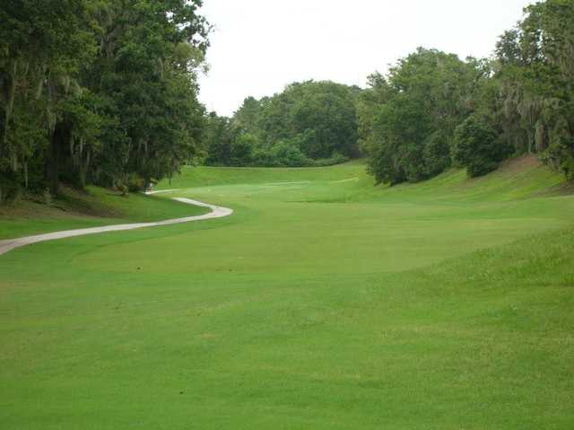 A view from a tee at Sanlan Golf Course