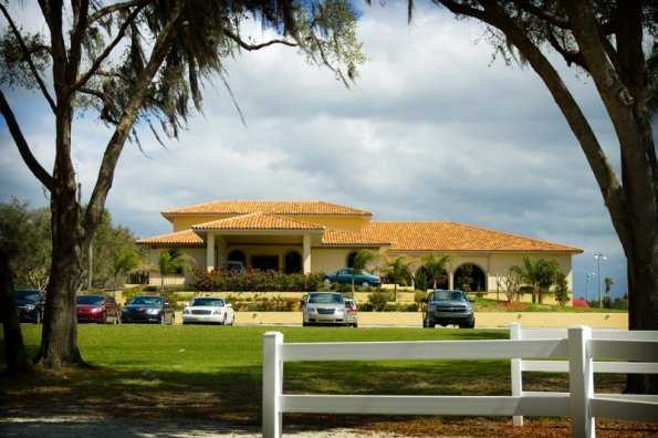 A view of the clubhouse at Schalamar Creek Golf Club