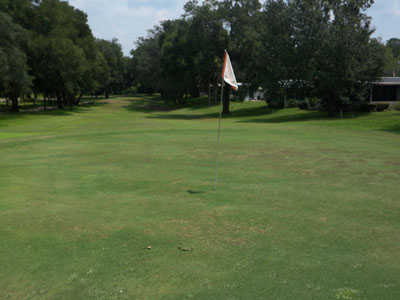 A view of the 13th hole at Rolling Greens Golf Course