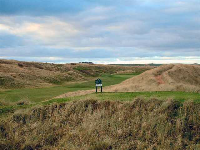 A view of tee #17 at Old Course from Peterhead Golf Club