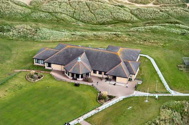 A view of the clubhouse at Peterhead Golf Club