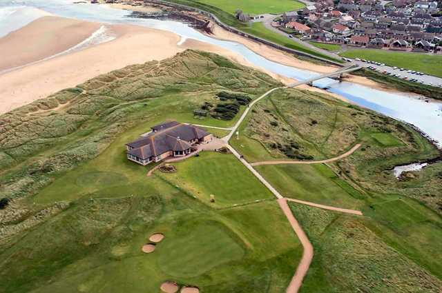 Aerial view from Peterhead Golf Club