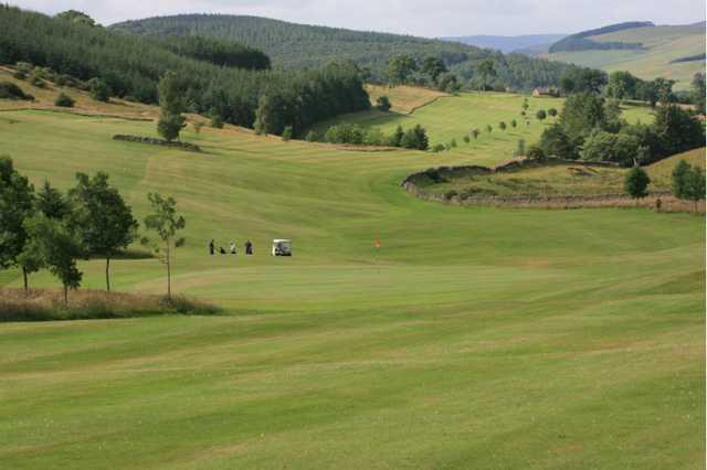 A view of hole #5 at Galashiels Golf Club