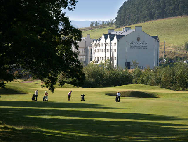 A view from Macdonald Cardrona Golf & Country Club