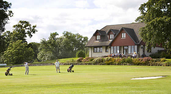 A view of the clubhouse at Minto Golf Club