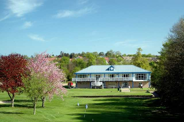 A view of the clubhouse at Hirsel Golf Club