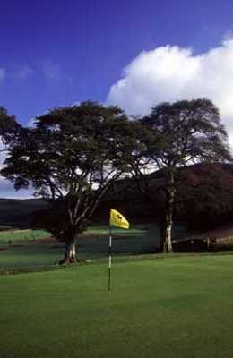 A view of green #9 at Woll Golf Course