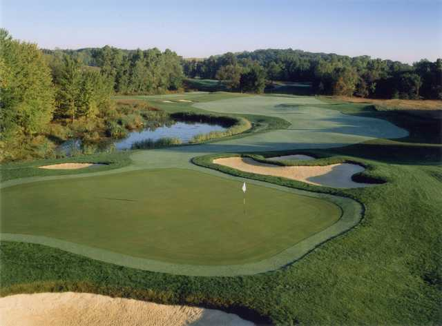 View of hole #9 at WestWynd Golf Course.
