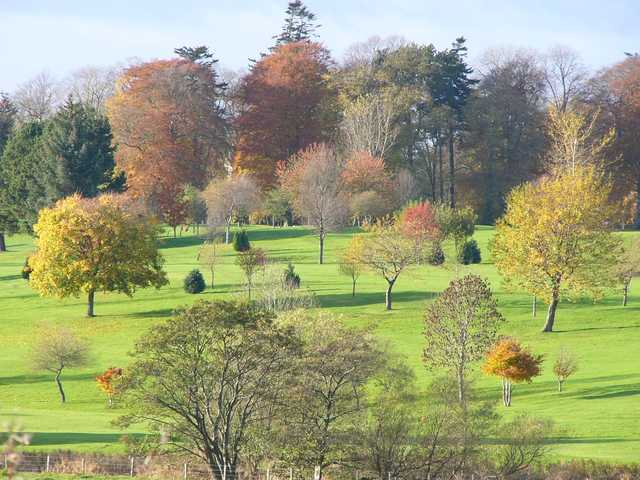 A fall view from Huntly Golf Club