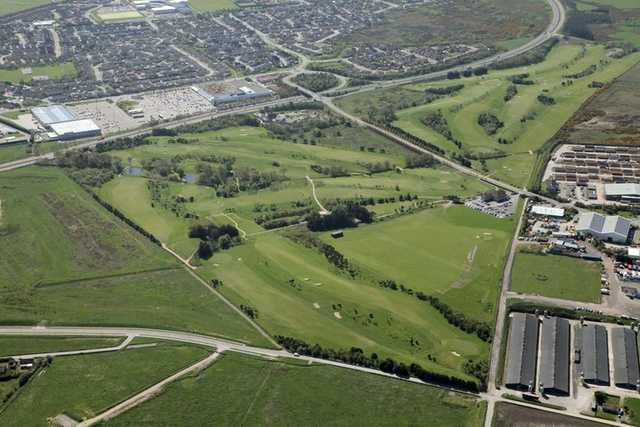 Aerial view of Portlethen Golf Club
