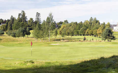 A view of green #17 at Grantown-on-Spey Golf Club