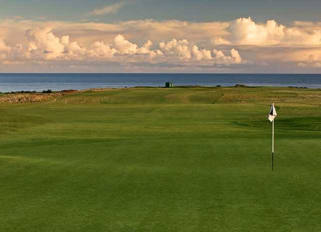 A view of the 8th hole at Craighead Links Course from Crail Golfing Society