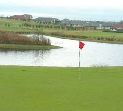 A view hole #9 with water coming into play at Drumoig Hotel Golf Resort