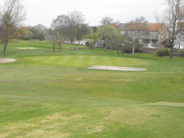 A view of a hole protected by bunkers at Lochgelly Golf Club