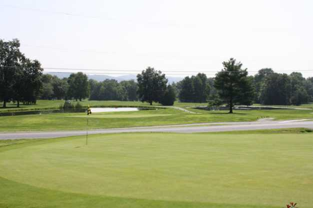 A view of a green at Hawk Valley Golf Club