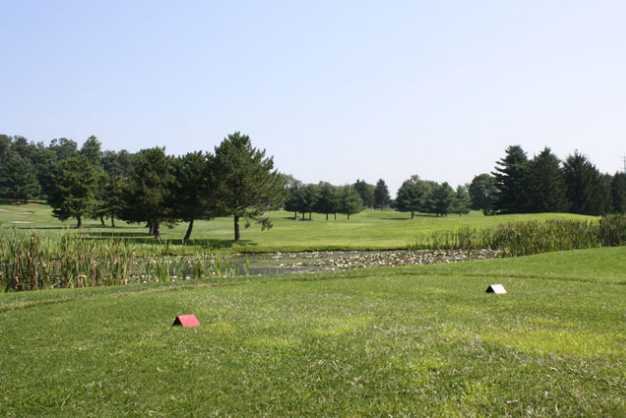 A view from a tee at Hawk Valley Golf Club