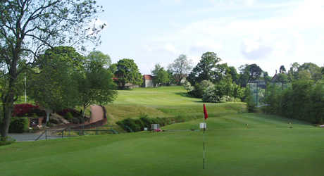 A view of the 17th green at Uphall Golf Club