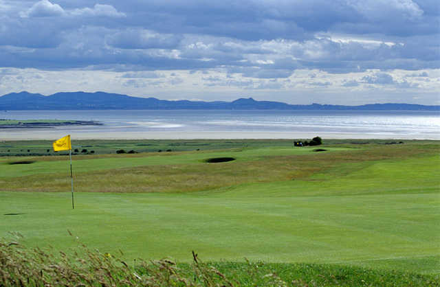 A view of the 14th green at No. 3 Course from Gullane Golf Club