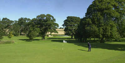 A view of the 13th green at Haddington Golf Club