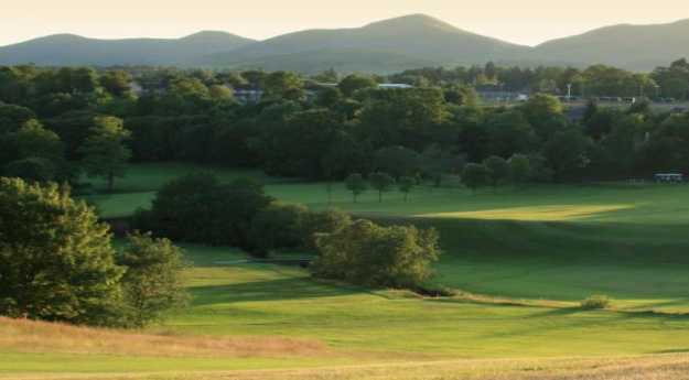 A sunny view from Glencorse Golf Club