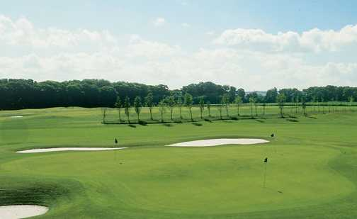 A view of the practice area at Kings Acre Golf Course and Academy.