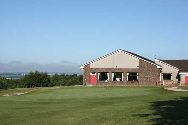 A view of the clubhouse at Carluke Golf Club