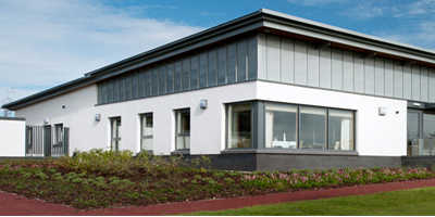 A view of the clubhouse at East Kilbride Golf Club