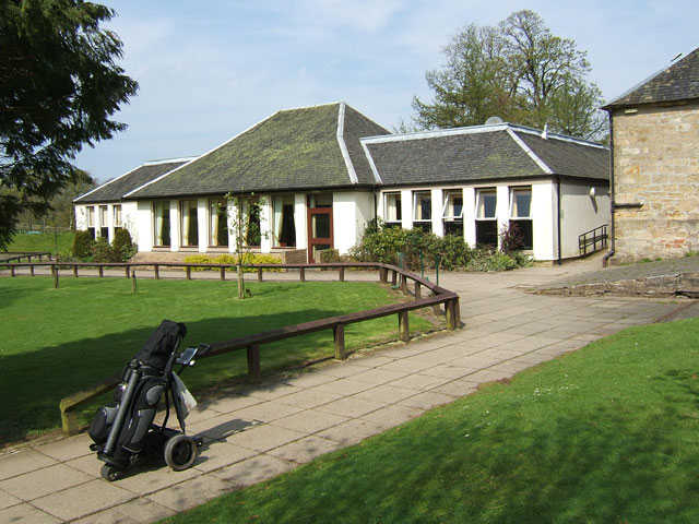 A view of the clubhouse at Torrance House Golf Club