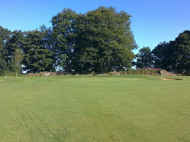 A view of hole #1 at Ballumbie Castle Golf Club