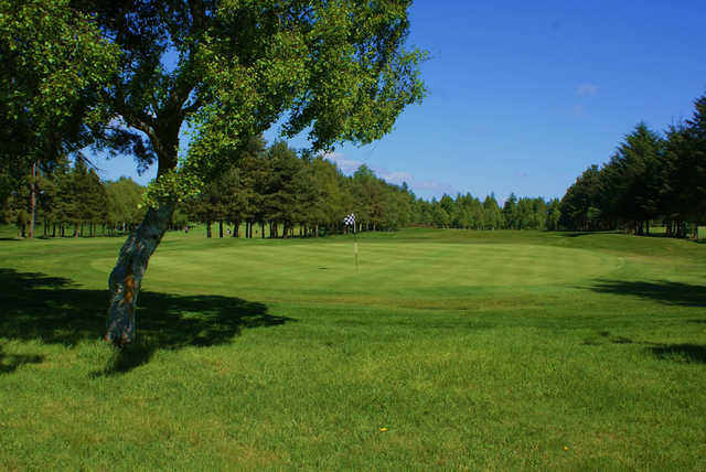 A view of a green at Alyth Golf Club