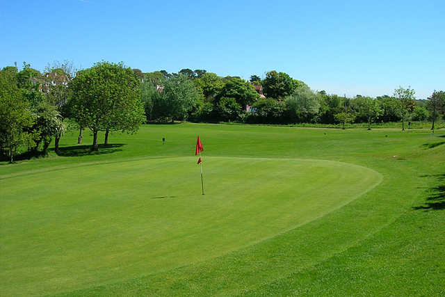 A view of hole #14 at Langland Bay Golf Club