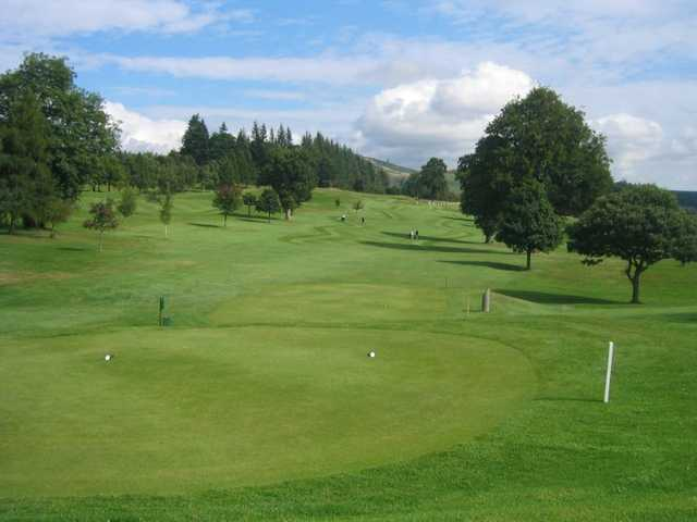 A view from a tee at Ferntower Course from Crieff Golf Club