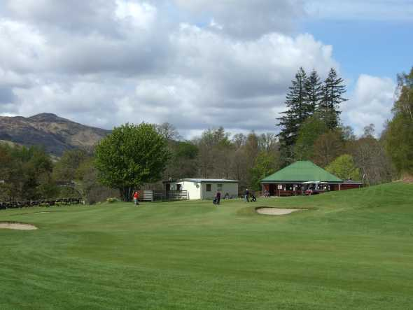 A view of the 9th green at Killin Golf Club