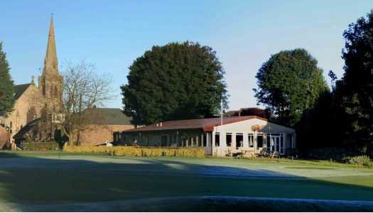 A view of the clubhouse at Milnathort Golf Club