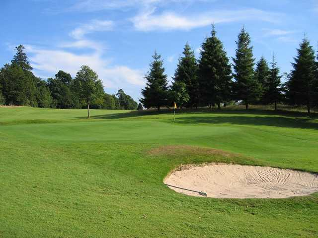 A view of the 3rd green at Dunblane New Golf Club