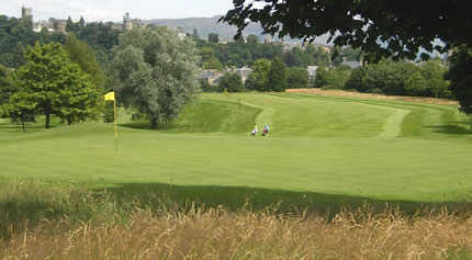 A view of the 1st hole at Stirling Golf Club