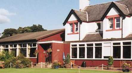 A view of the clubhouse at Bishopbriggs Golf Club