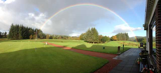 A view of the 1st tee at Milngavie Golf Club