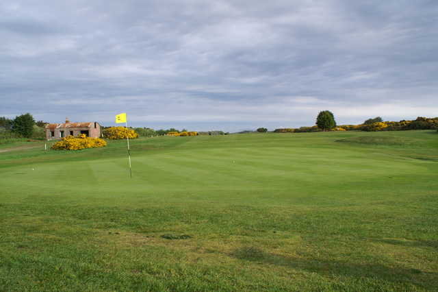 A view of the 2nd green at Powfoot Golf Club
