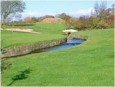 Water hazard on the 9th hole at Ardeer Golf Club