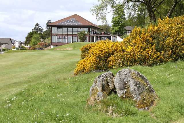 A view of the clubhouse at Largs Golf Club