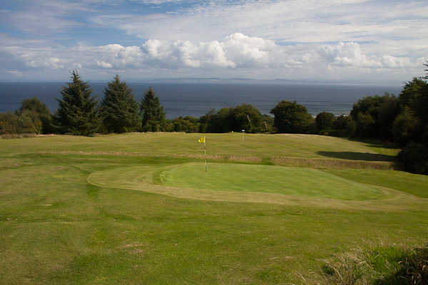 A view of the 3rd green at Whiting Bay Golf Club