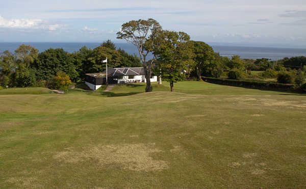 A view of the clubhouse at Whiting Bay Golf Club