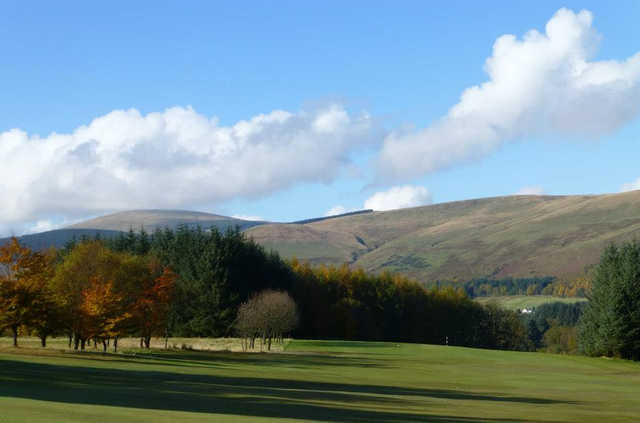 An autumn view from Muckhart Golf Club
