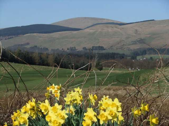 A view of the 6th fairway at Naemoor from Muckhart Golf Club